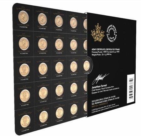 Kanadyjski Liść Klonowy Maplegram 25x1g 2020 24h