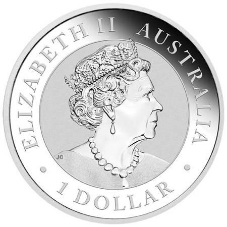 Srebrna Moneta Australijska Kookaburra 1 uncja 2018r 24h