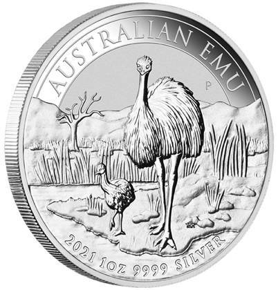 Srebrna Moneta Australijski Emu 1 uncja 2021r 24h