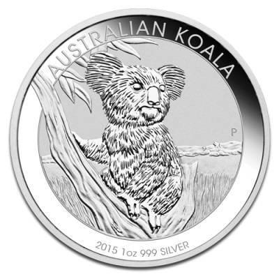 Srebrna Moneta Australijski Koala 1 uncja 2015r 24h