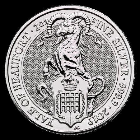 Srebrna Moneta Bestie Królowej: Yale Of Beaufort 2 uncje