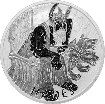 Srebrna Moneta Bogowie Olimpu: Hades 1 uncja 24h