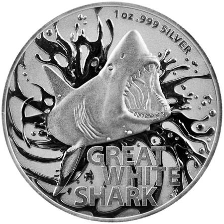 Srebrna Moneta Great White Shark 1 uncja 24h
