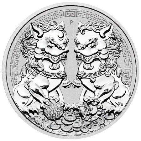 Srebrna Moneta Guardian Lions DOUBLE PIXIU 1 uncja 24h