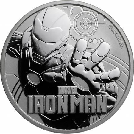 Srebrna Moneta Ironman - Marvel Series 1 uncja 2018r 24h