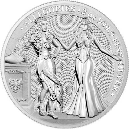Srebrna Moneta Italia & Germania 2 uncje 24h