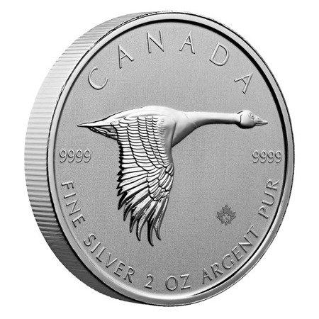 Srebrna Moneta Kanadyjska Gęś 2 uncje