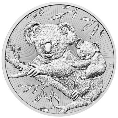 Srebrna Moneta Koala Matka i Dziecko 2 uncje 24h