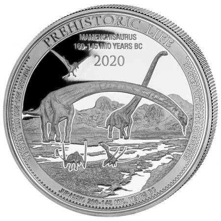 Srebrna Moneta Mamenchisaurus 1 uncja 24h