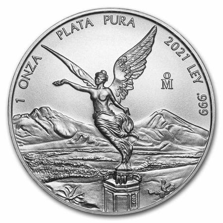 Srebrna Moneta Meksykańska Bogini Wolności 1 uncja 24h