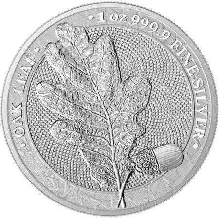 Srebrna Moneta Mythical Forest - Liść Dębu 1 uncja 2019r 24h