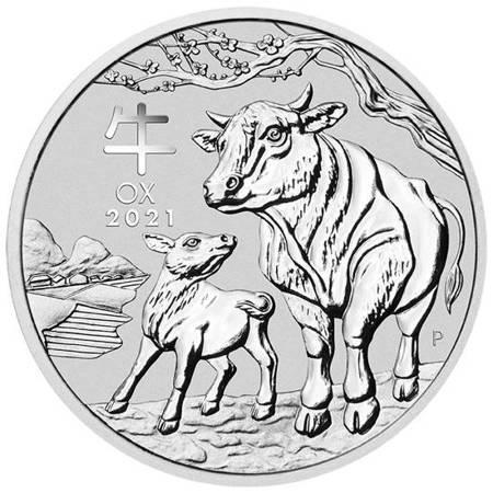 Srebrna Moneta Rok Bawoła 1 uncja 24h