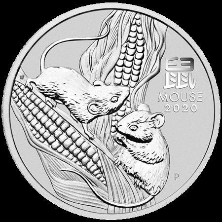 Srebrna Moneta Rok Myszy 1000g (1kg) 24h