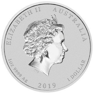 Srebrna Moneta Rok Świni 1 uncja 24h