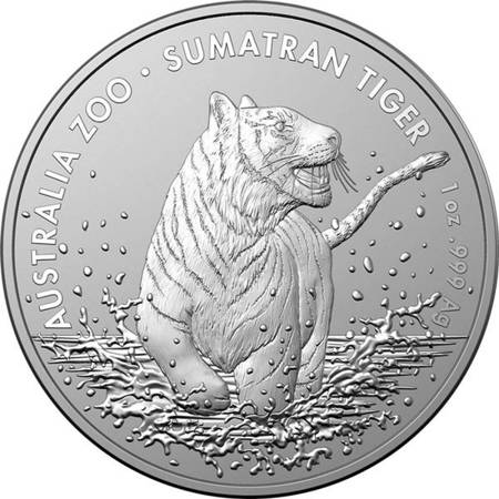 Srebrna Moneta Sumatrzański Tygrys 1 uncja 24h
