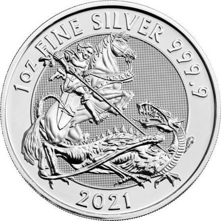 Srebrna Moneta Święty Jerzy i smok 1 uncja