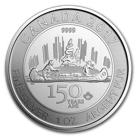 Srebrna Moneta Voyageur 1 uncja (150-lecie Kanady) 24h