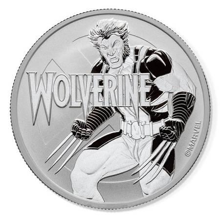 Srebrna Moneta Wolverine - Marvel Series 1 uncja 24h