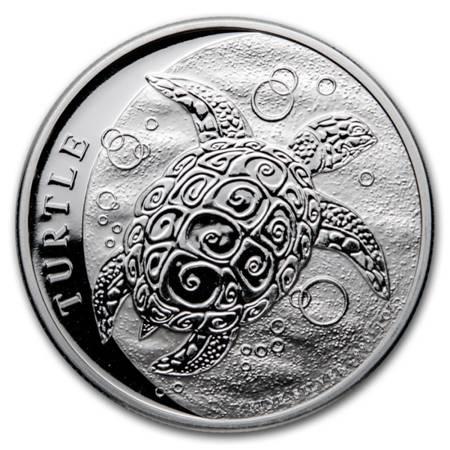 Srebrna Moneta Żółw Szylkretowy 1 uncja 24h