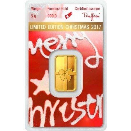 Sztabka Złota CertiPack 5g (Wersja Świąteczna) 24h