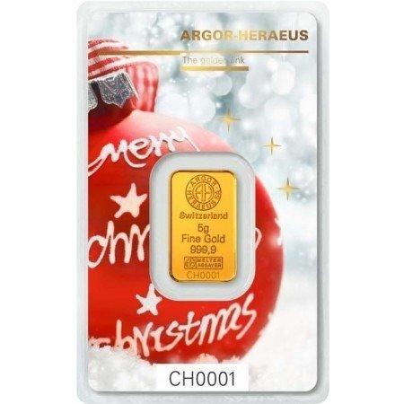Sztabka Złota CertiPack 5g (Wersja Świąteczna)