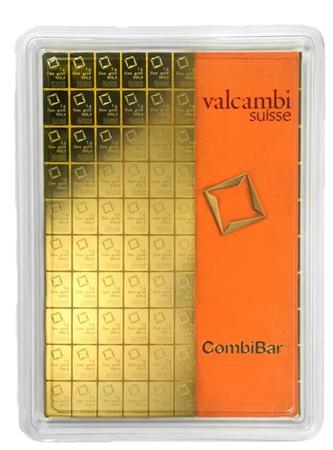 Sztabka Złota CombiBar - 100x1g