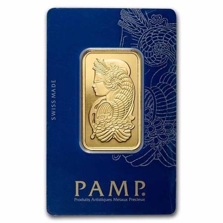 Sztabka Złota PAMP CertiCard 1 uncja 24h