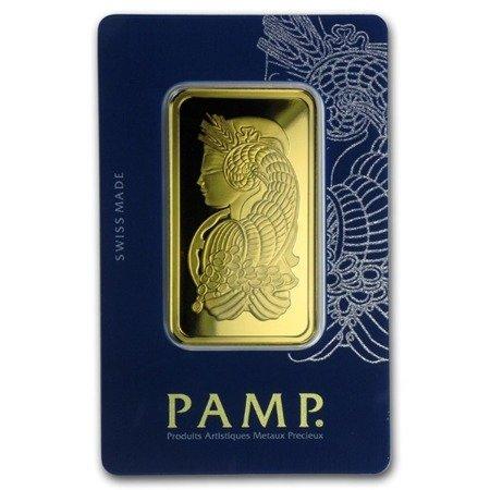Sztabka Złota PAMP CertiCard 100g