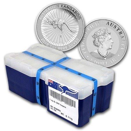 Zestaw Srebrna Moneta Australijski Kangur 500x1oz