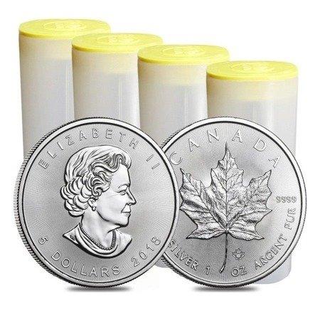 Zestaw Srebrna Moneta Kanadyjski Liść Klonowy 100x1oz