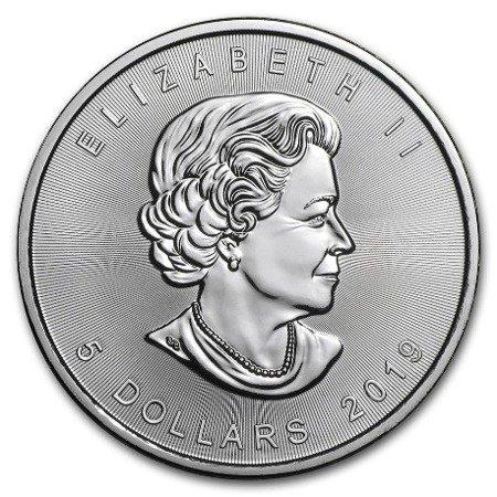 Zestaw Srebrna Moneta Kanadyjski Liść Klonowy 25x1oz
