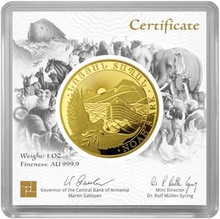Złota Moneta Arka Noego 1 uncja 24h