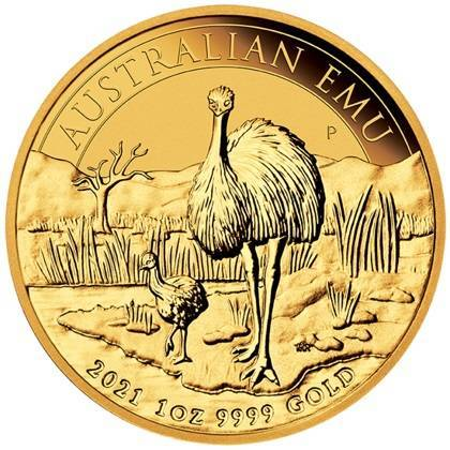 Złota Moneta Australijski Emu 1 uncja 2021r 24h