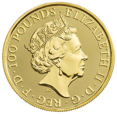 Złota Moneta Bestie Królowej: Biały Lew Mortimerów 1 uncja 24h