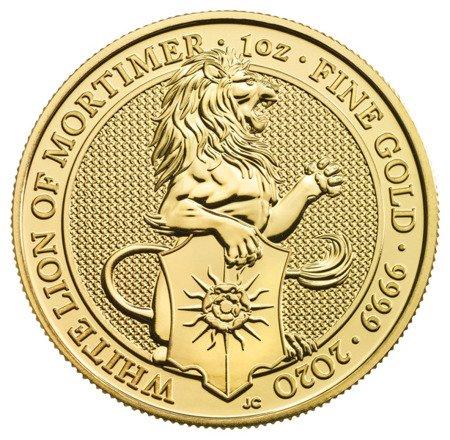 Złota Moneta Bestie Królowej: White Lion of Mortimer 1 uncja 24h
