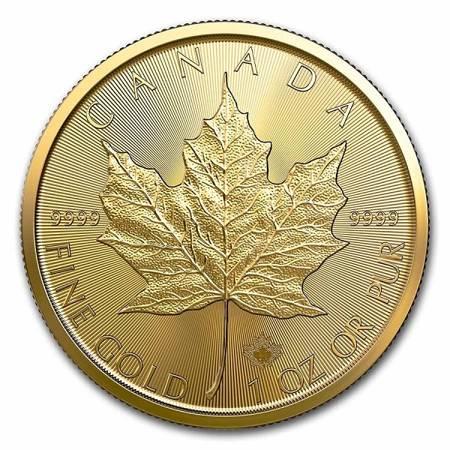 Złota Moneta Kanadyjski Liść Klonowy 1 uncja