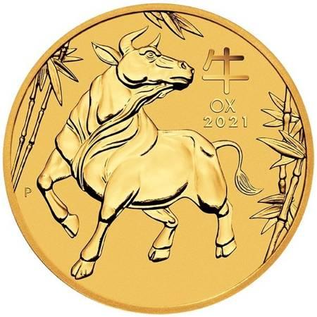 Złota Moneta Rok Bawoła 1/2 uncji