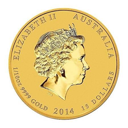 Złota Moneta Rok Konia 1/10 uncji 24h