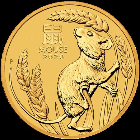 Złota Moneta Rok Myszy 1/20 uncji