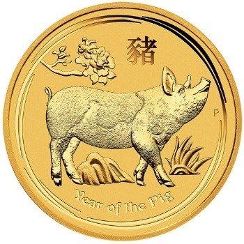 Złota Moneta Rok Świni 1/2 uncji
