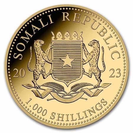Złota Moneta Somalijski Leopard 1 uncja 24h